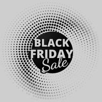 black friday sale in circular dots