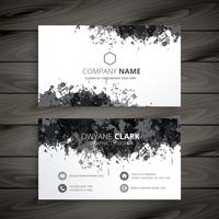 grunge splash business card vector design illustration