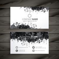 grunge splash business card vector design illustration