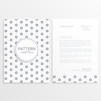 business flyer with minimal pattern