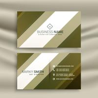 stylish diagonal lines business card template