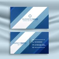corporate business card identity design with blue stripes