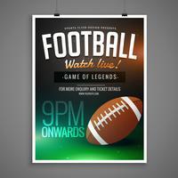 plantilla de invitación de diseño de tarjeta de evento de fútbol