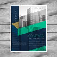 modelo de design de cartaz de brochura de empresa abstrata com espaço para