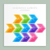 seta infográfico colorida
