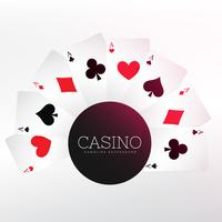 Fondo de naipes de casino