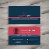 saubere moderne corporate Visitenkarte Vorlage Vektor-Design illu