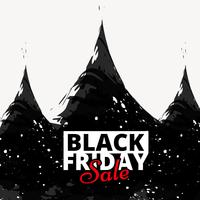 black friday sale poster design illustration