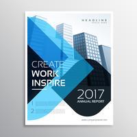 modelo de folheto de apresentação de negócios azul moderno para r anual