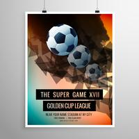 abstract football soccer game flyer template