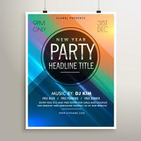 modelo de panfleto de evento de festa com listras coloridas