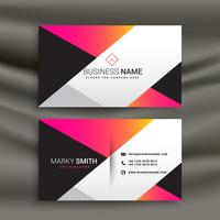creative bright business card design template