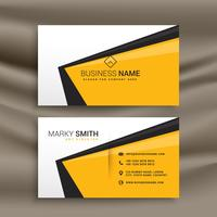 creative business card design with flat yellow black and white c