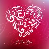 amour créatif coeur fond vector design illustration