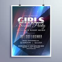 girls club party music event flyer template