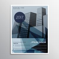 design de folheto folheto elegante apresentação azul em abstrato sh
