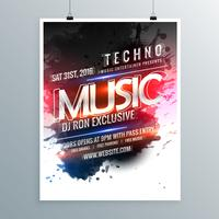 music party promotional flyer poster template