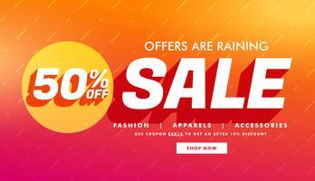 verkoop promotionele sjabloon met aanbiedingsdetails voor uw merk