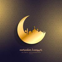golden moon and mosque design