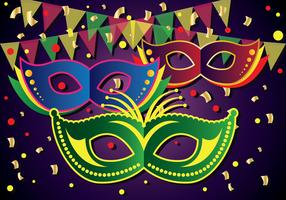 Illustration vectorielle de Mardi Gras Parade