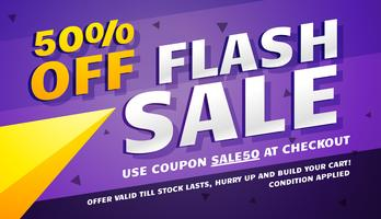 modern sale voucher in purple and yellow color theme