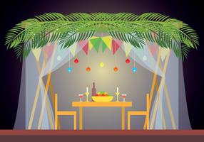 Sukkah Vector Illustration