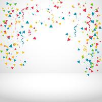 vit bakgrund med färgglada konfetti