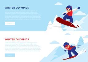 Vettore di bandiera di Olimpiadi invernali