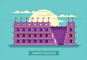 Vector Illustration of the Colosseum in Rome in Flat Style