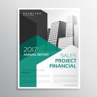 modelo de relatório anual de brochura de negócios limpo
