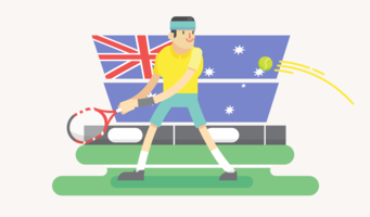 Vetor de jogador de tênis australiano