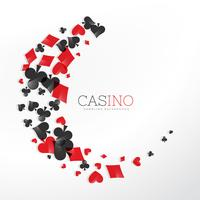 casino playing card elements in wave style