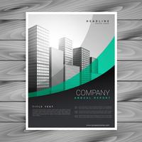 stylish wavy business brochure design template vector