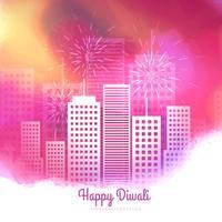 conception de vecteur de feux d'artifice coloré diwali saison