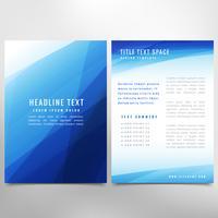 brochure de présentation abstraite