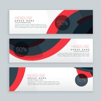abstract sale banners set