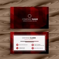 red abstract business card vector design illustration