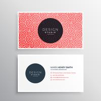 abstract minimal business card template with organic patterns