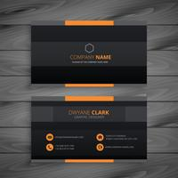 dark modern business card vector design illustration