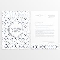 business leaflet design with abstract pattern