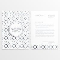 design de folheto de negócios com padrão abstrato