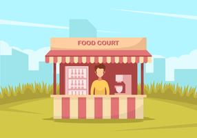 A Man In Red Food Court  vector