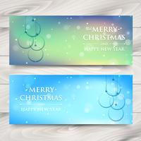 design de banner de natal