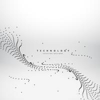 mesh dots wave technology background vector design illustration