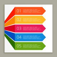 färger infografiska steg banners