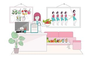 Cheerful Nutritionist Vol 2 Vector