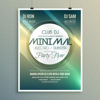 Plantilla de folleto de club música minimalista flyer en estilo moderno