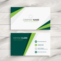 clean green visit card vector design illustration