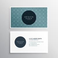 modern business card template with pattern