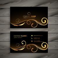 premium floral business card vector design illustration